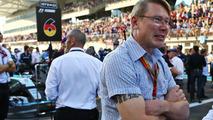 Mika Hakkinen, on the grid