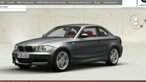 BMW 1-Series Coupé Configurator Goes Live