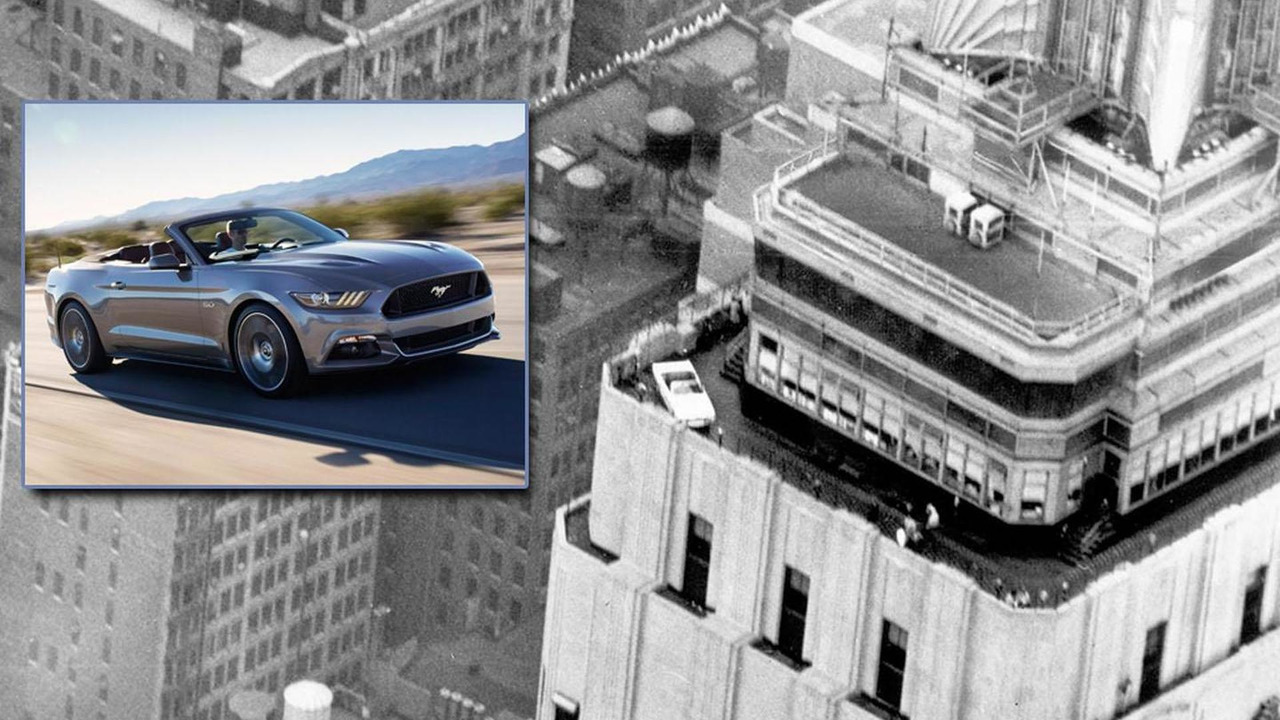 Mustang Convertible at the Empire State Building