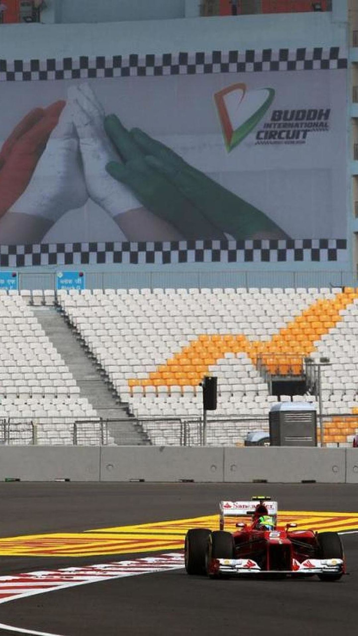 Felipe Massa on track, Indian Grand Prix, Greater Noida