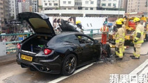 Ferrari FF goes up in flames in Hong Kong