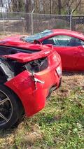 Ferrari 458 Italia crashes at 140 mph, ends up sliced in half