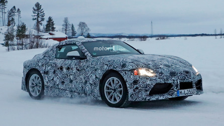 Latest Toyota Supra spy shots show snow is no match