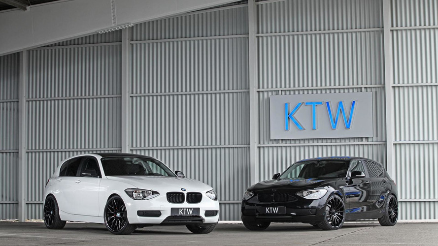 KTW Tuning visually tweaks BMW 116i black and white duo