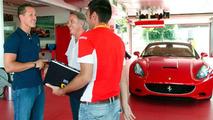 Schumacher with Ferrari California