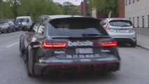 Jon Olsson uses his 950 PS Audi RS6 DTM as Uber car in Sweden [video]