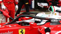 Sebastian Vettel, Ferrari SF16-H running the Halo cockpit cove