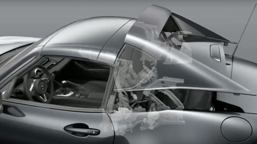 Watch how Mazda Miata's hardtop cleverly folds away