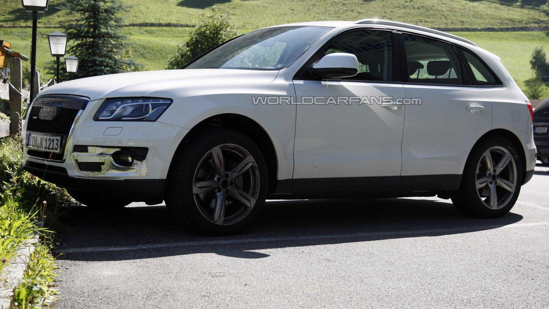 Audi Q5 S spied testing in the Alps