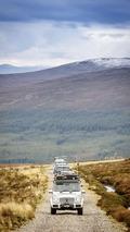 12 Mercedes SUVs traversed U.K. without using public roads