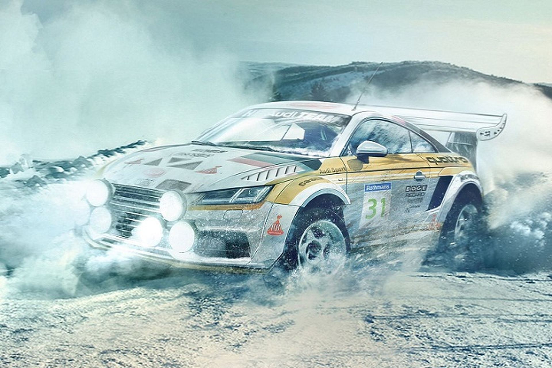 Modern Cars Re-imagined as Group B Rally Cars