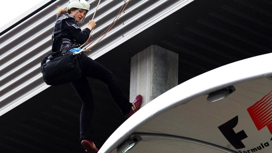 F1 organisers tried to hurt me - Greenpeace 'Julia'