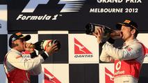 Jenson Button, Lewis Hamilton, Australian Grand Prix, 18.03.2012