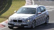 2012 BMW 1-Series 5-door spied with less camo on the Nürburgring