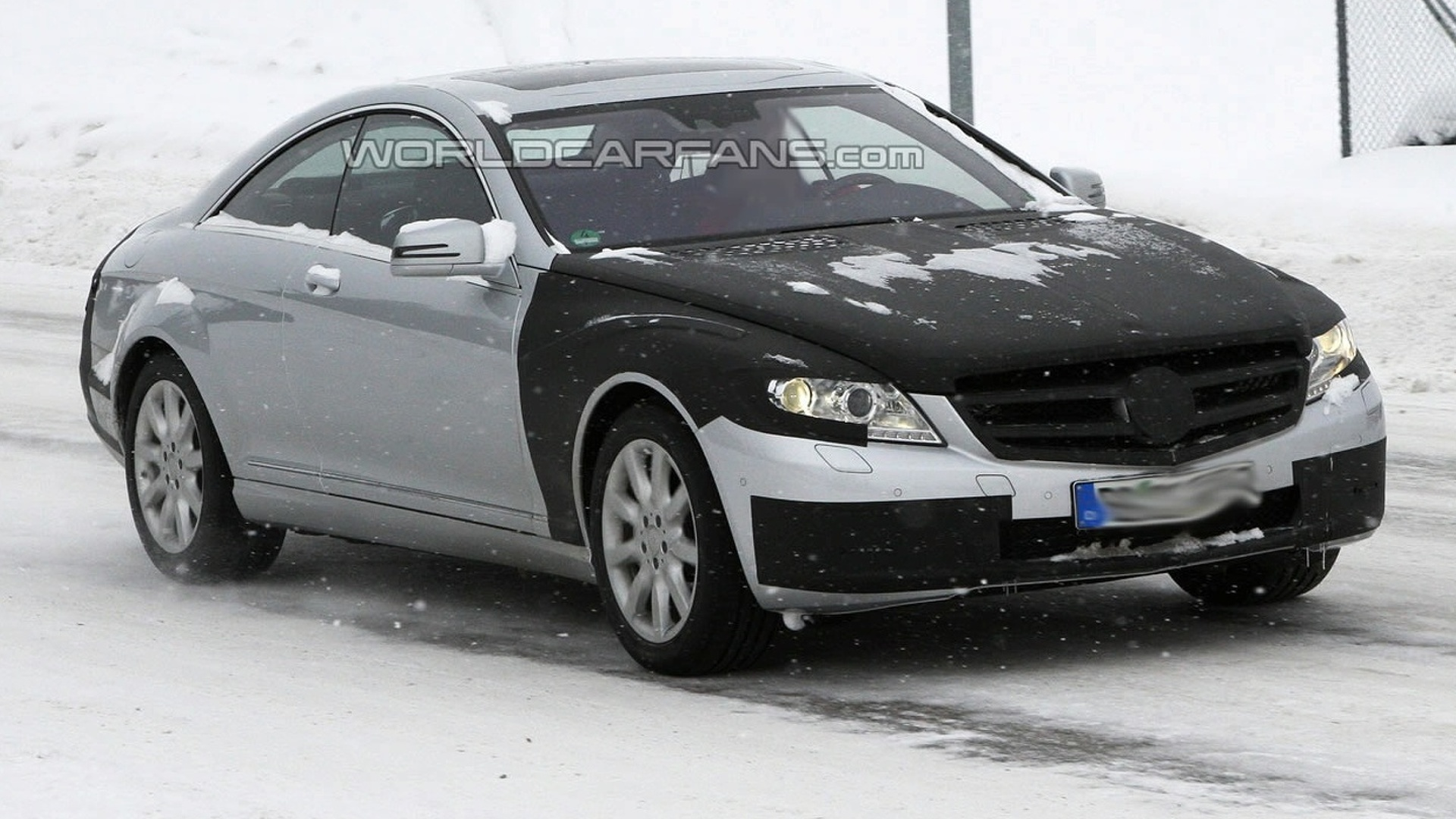 Mercedes S-Class Coupe Facelift Spied