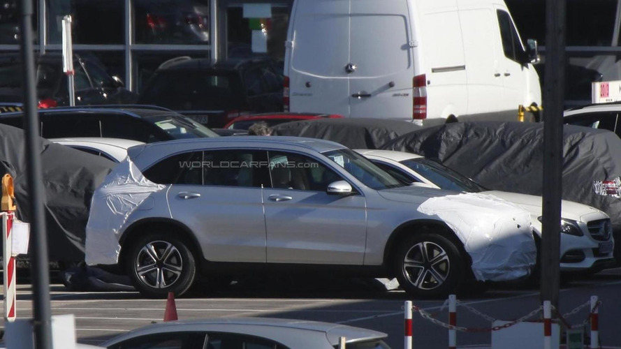 Mercedes-Benz GLC shows camo free side profile in latest spy shots