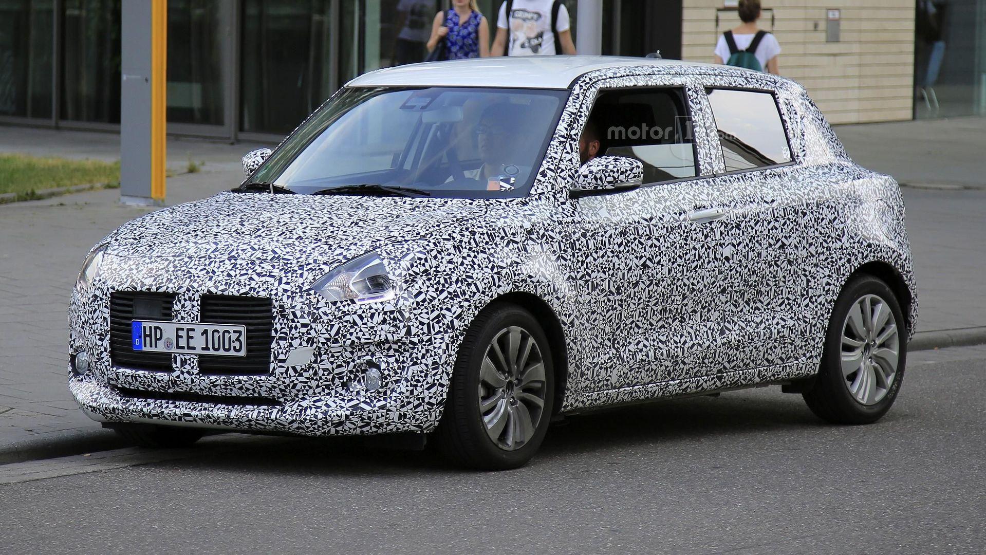 2017 Suzuki Swift looks cute despite being camouflaged