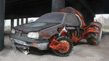 Volkswagen Golf Russian Monster Robot Car