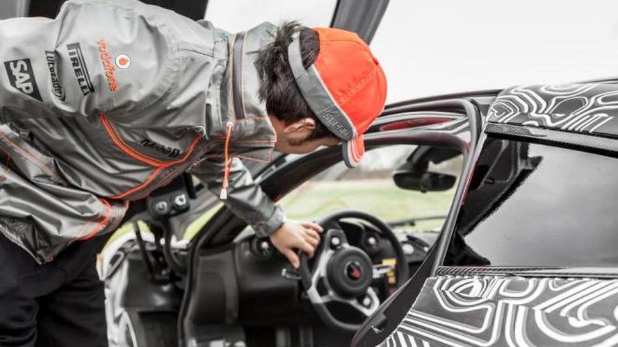 Sergio Perez tests McLaren P1 at Top Gear track [video]