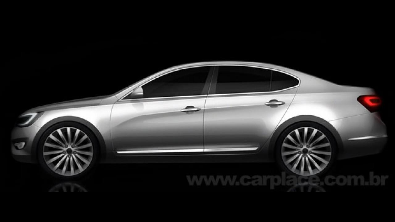 Irmão do Hyundai Azera: Kia divulga imagens do novo VG sedan