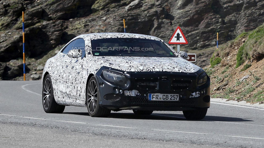 2014 Mercedes S-Class Coupe spied high-altitude testing
