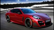 Porsche Panamera Tuner Car Artists Rendering Inspired by Techart
