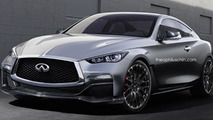 Infiniti Q60 Eau Rouge digitally imagined