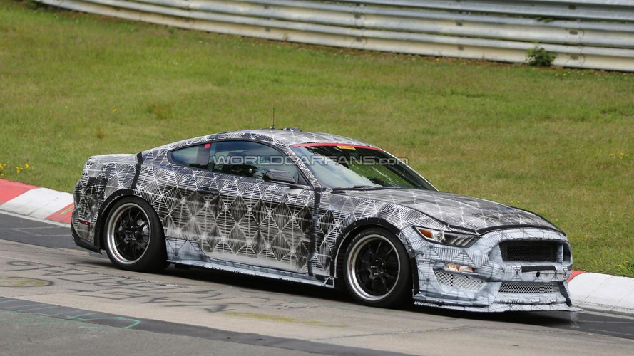 2016 Ford Mustang SVT / GT350 spied on the Nurburgring