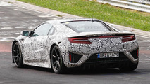 2015 Honda/Acura NSX spied at the Nürburgring hiding production body