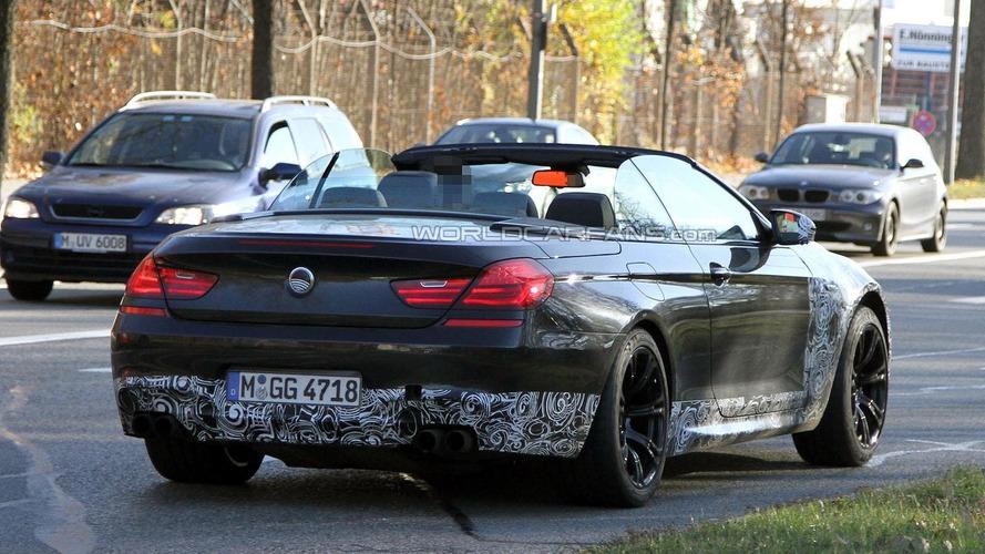 BMW M6 Cabrio caught topless