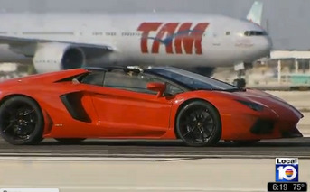 Video: Nine Lamborghini Aventadors on Runway Exhibits Why News Outlets Suck