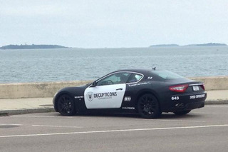Police Aren't Impressed by This Guy's Maserati Cop Car