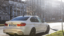 2014 BMW M3 with Mineral White paint seen in Germany