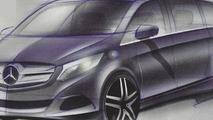 2014 Mercedes-Benz Viano design sketch (not confirmed) 01.08.2013