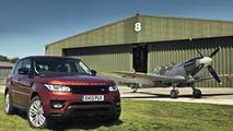 Range Rover Sport races a Spitfire 08.7.2013