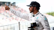 Lewis Hamilton, Mercedes AMG F1 celebrates his third position on the podium