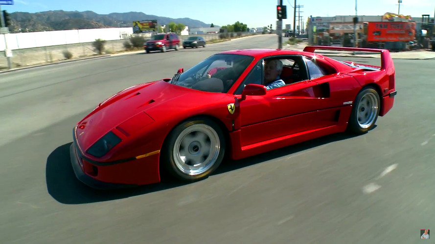 Jay Leno ticks driving Ferrari F40 off his bucket list