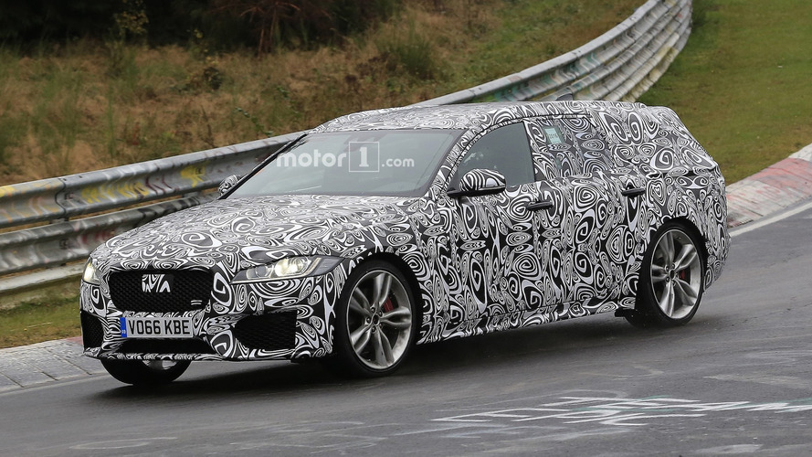 Jaguar XF Sportbrake spied showing off its assets