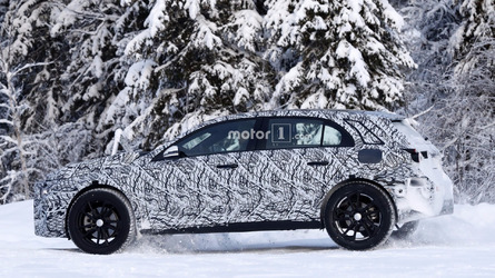 Next-gen Mercedes GLA spied playing in the snow