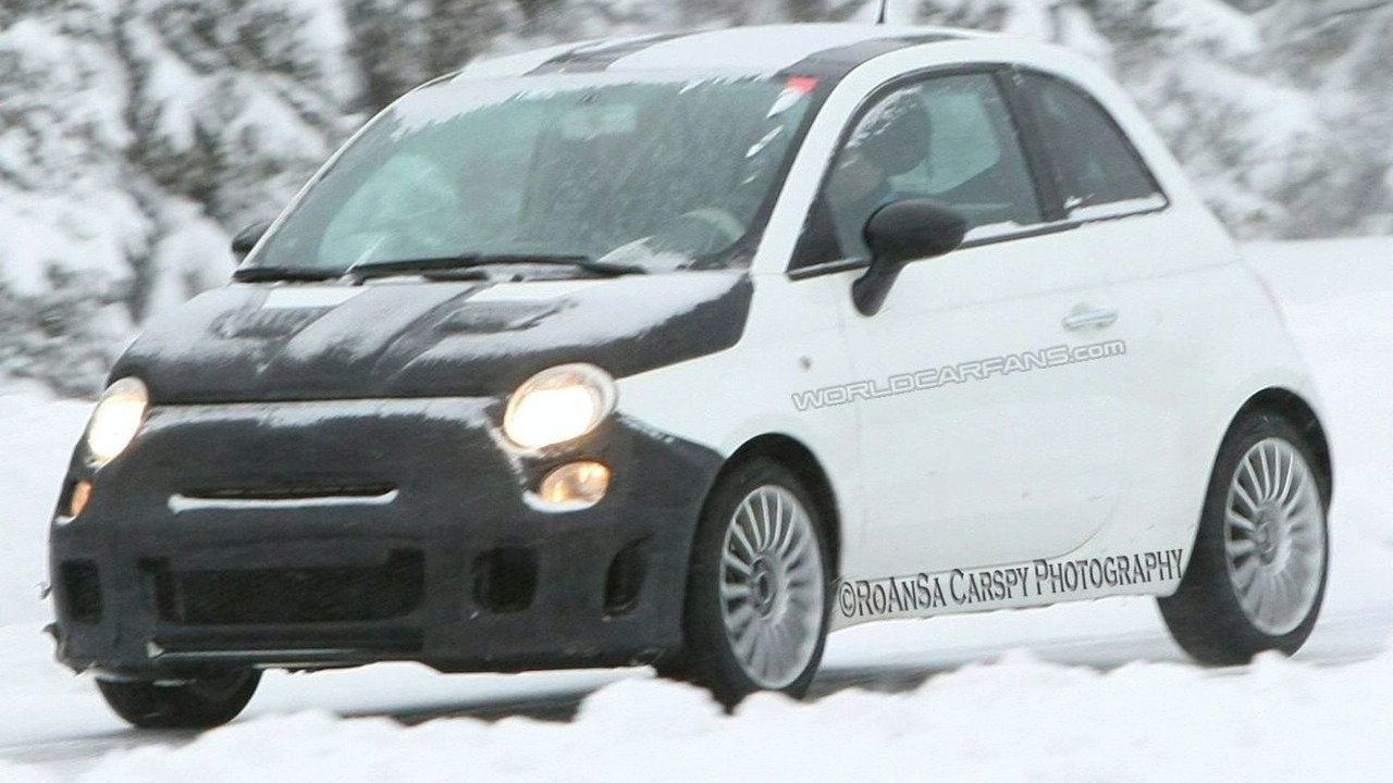 Fiat 500 Abarth SS Spy Shot