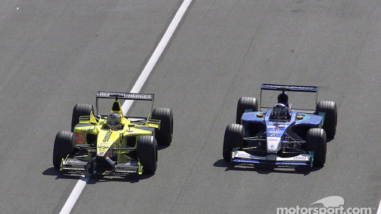 Jean Alesi and Kimi Raikkonen