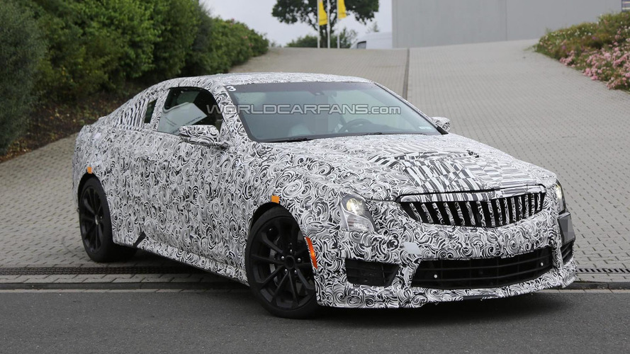 2016 Cadillac ATS-V spied on video pumping iron