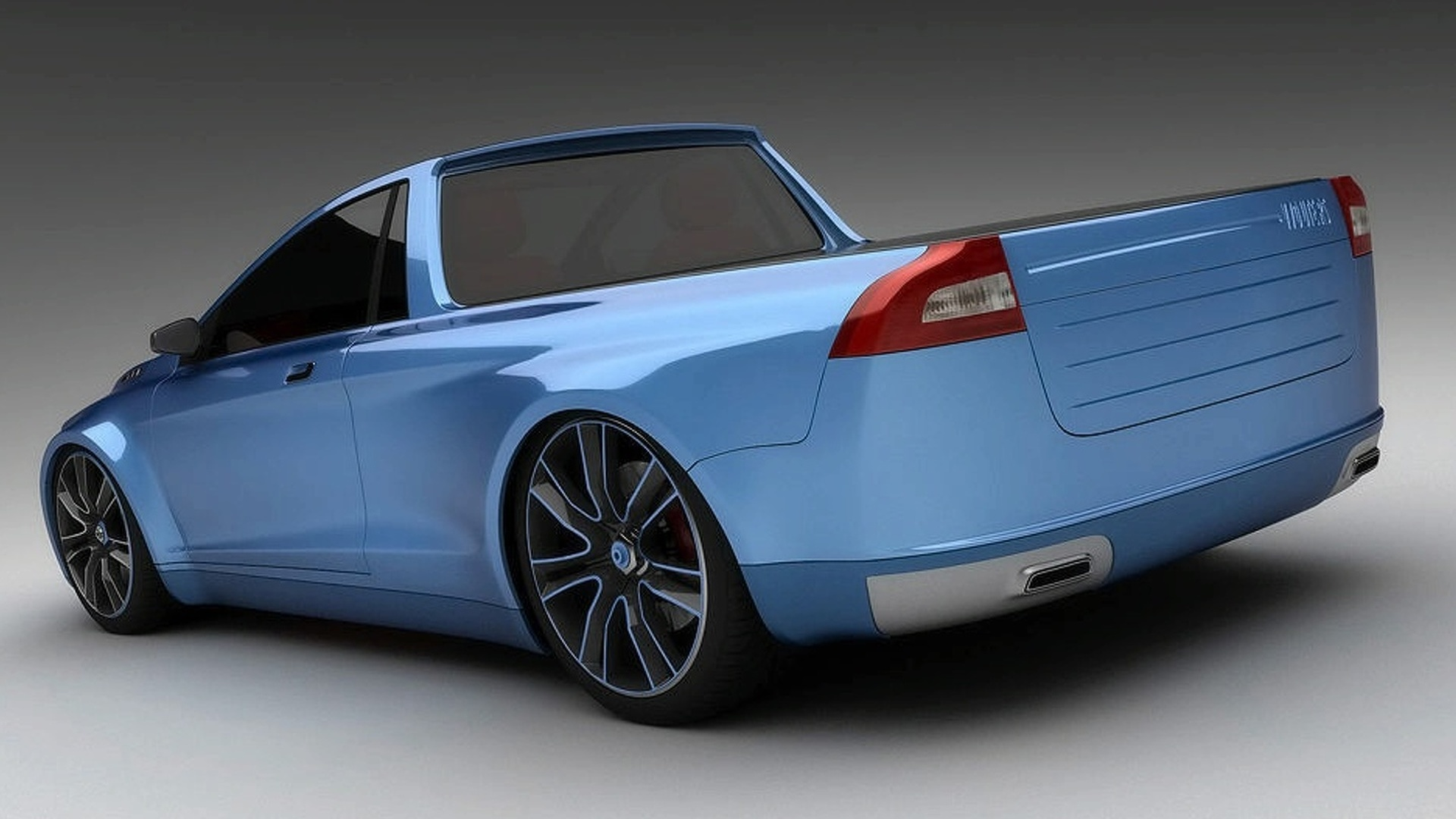 3D Rendered: Volvo V70 pickup aka Volvomino