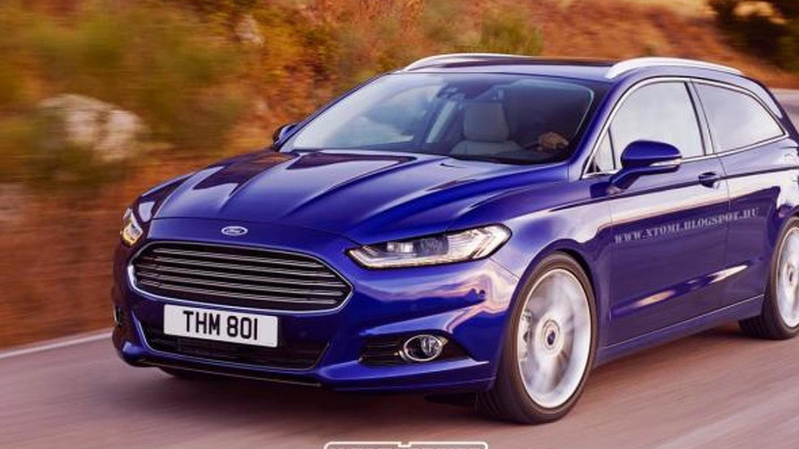 Ford Mondeo Shooting Brake rendering is strange yet nice idea