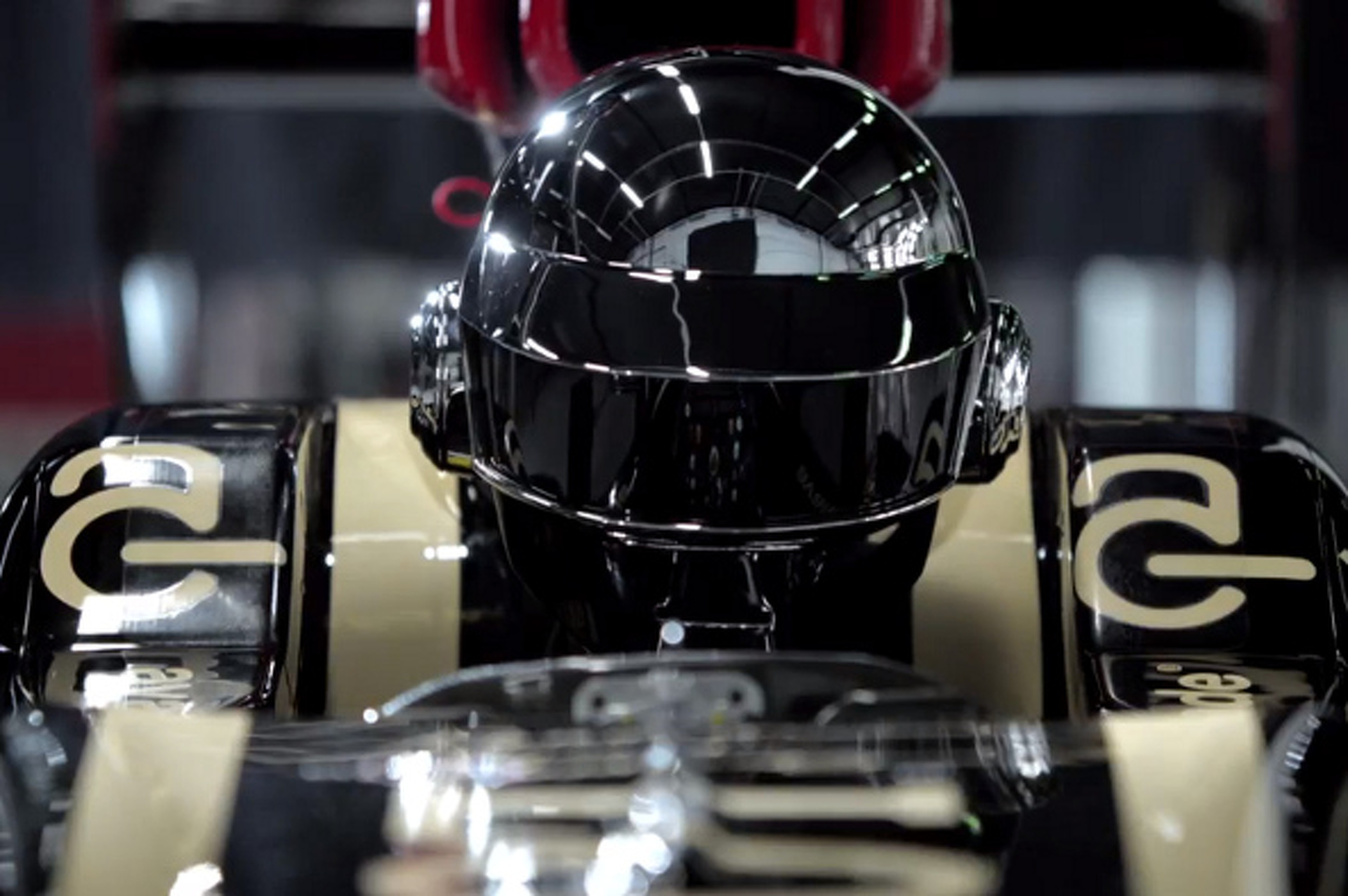Daft Punk Drives the Lotus F1 Car [video]