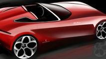 Pininfarina Alfa Romeo Spider Concept design sketch - 600 - 1.03.2010