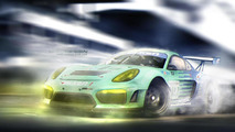 Porsche Cayman GT4R digitally imagined for track use