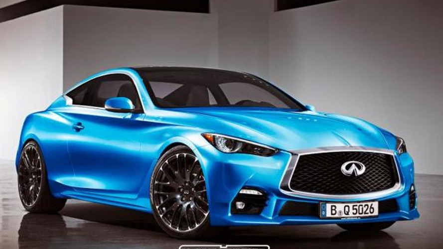 Infiniti Q60 concept rendered as production model