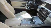 2014 BMW 5-Series facelift interior spy photo