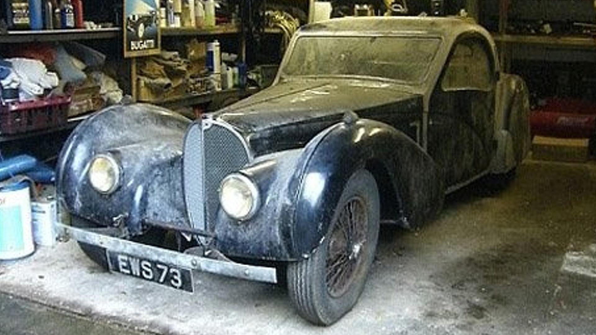 Rare 1937 Bugatti Type 57S Atalante Found in Garage